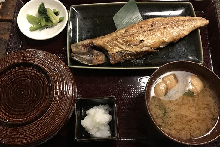 菊松食堂 サバの文化干し定食