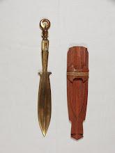 Photo: Messingmesser, Handarbeit der Ifugao Phillip. Bergstamm