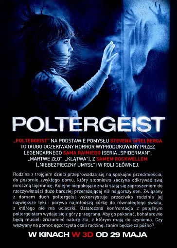 Tył ulotki filmu 'Poltergeist'