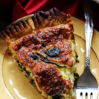 Caramelized Shallot and Swiss Chard Quiche Recipe