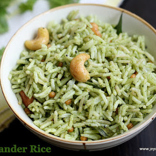 KOTHAMALLI SADHAM(CORIANDER LEAVES RICE)|NO ONION NO GARLIC