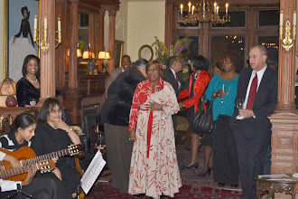 Photo: Rev. Dr. Vaalerie Oliver-Durrah, President and CEO NTAC and guests applauding Noel Pointer String Quintet