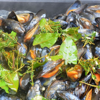 Grilled Mussels with Fresh Herbs Recipe