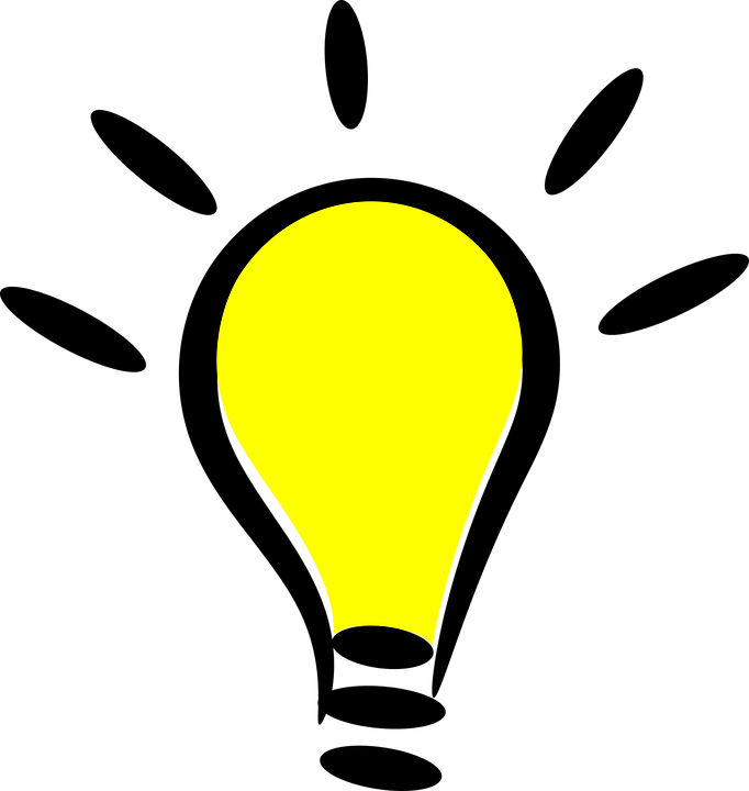 cartoon icon light bulb symbol