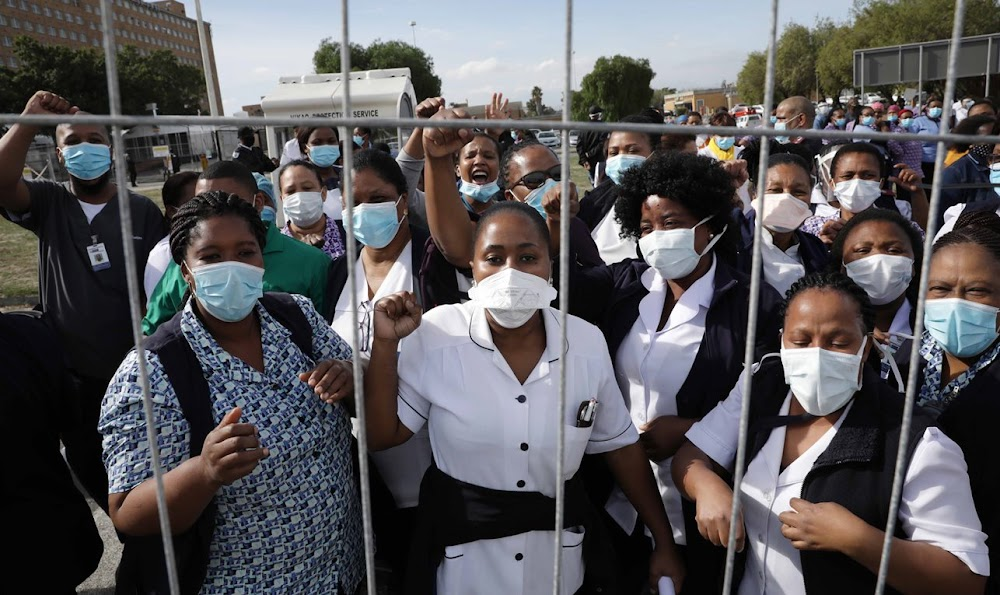 Show us you care by protecting us from infection, say protesting nurses - TimesLIVE