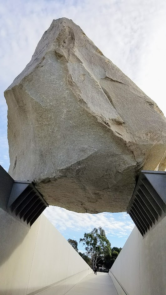 Levitated Mass by Michael Heizer. Displayed on the grounds of LACMA