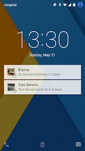 Lockscreen Birthdays - náhled