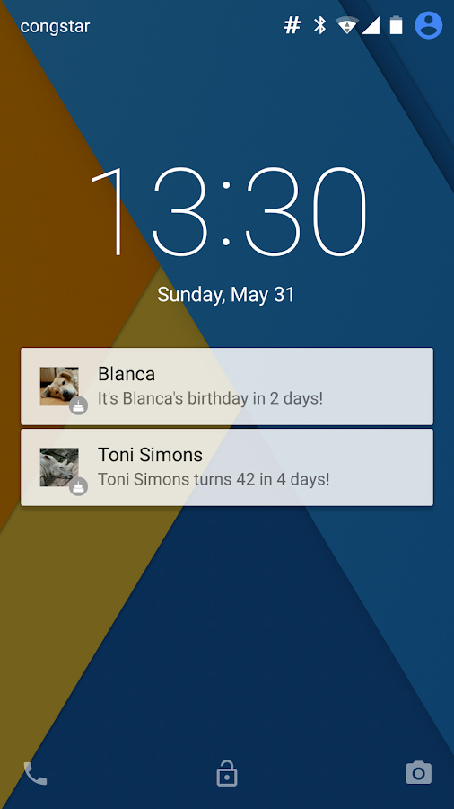 Lockscreen Birthdays- screenshot