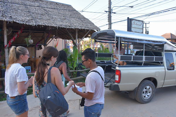 Pickup service by local truck (Songthaew) from your hotel on Koh Lanta