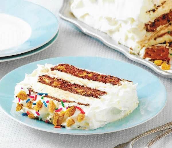 Chocolate & Peanut Butter Ice Cream Cake