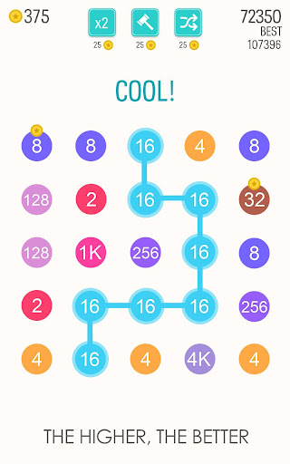 2 For 2: Connect the Numbers Puzzle - screenshot