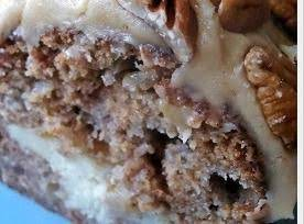 Apple Cream Cheese Bundt Cake W/caramel Pec