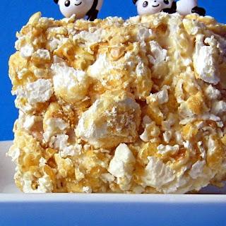 White Chocolate Toffee Popcorn Lamingtons