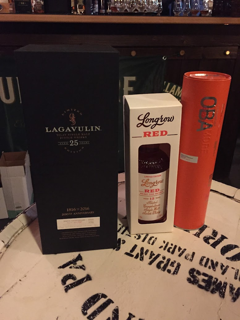 Lag 25, Longrow Red 13 Malbec, OBA