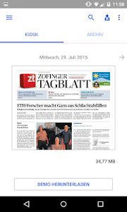 Zofinger Tagblatt - E-Paper screenshot 0