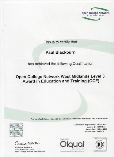 a Certificate in Education
