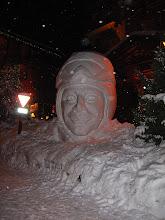 Photo: Snow Sculpture in village centre