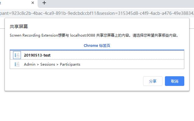 Screen Recording Extension
