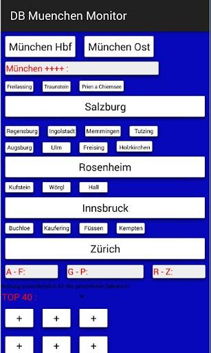 Railway Munich schedule