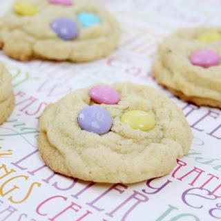Springtime M&M Sugar Cookies.