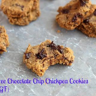 Sugar-Free Chocolate Chip Chickpea Cookies (Vegan, GF).