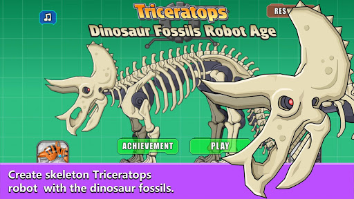 Triceratops Dinosaur Fossil Robot Age 1.0 {cheat hack gameplay apk mod resources generator} 1