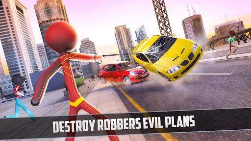 Grand Stickman Rope Hero Crime City screenshot 2