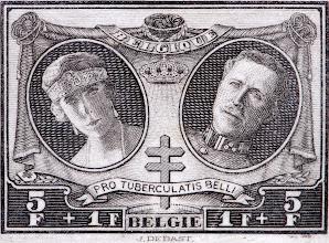 Photo: Antituberculeux (6-12-1926). Roi Albert Ier et reine Élisabeth.