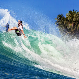 on Top of The Wave by Indrawaty Arifin - Sports & Fitness Surfing ( water, coconut, surfing, wave, sea, man,  )