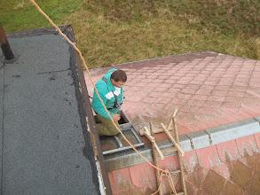 Photo: žebřík umístěný na střeše
