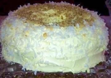 Blueberry Pineapple Coconut Cream cake