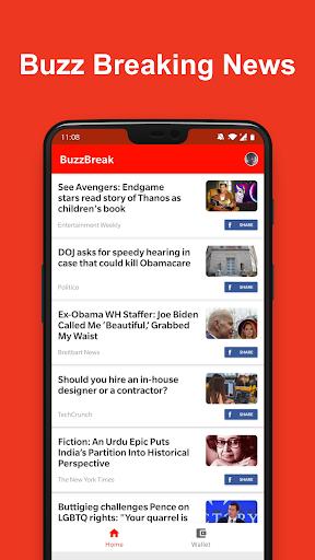 BuzzBreak News - Buzz News & Earn Free Cash! 1.0.8 screenshots 1