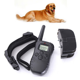 Zgarda dresaj canin raza actiune 300 metri cu telecomanda si acumulatori