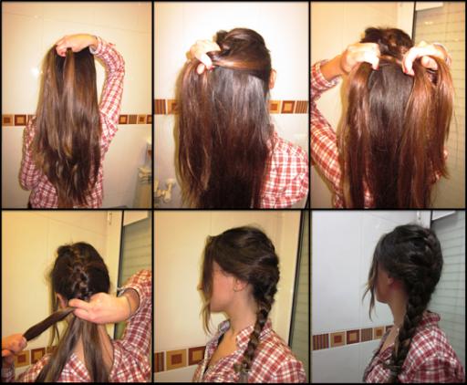 梳头发的方式