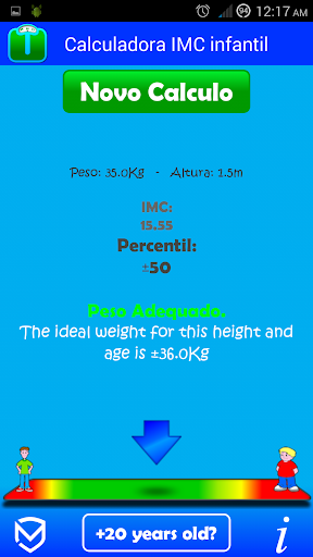 Children's BMI calculator