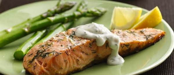 Grilled Salmon With Herbed Tartar Sauce Recipe