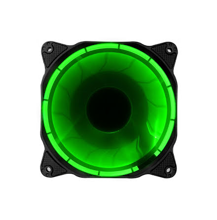 Jonsbo vifte, Solar Eclipse LED Fan, Green, 120x25