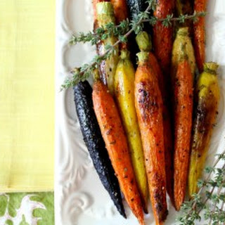 Caramelized Herb Roasted Carrots.