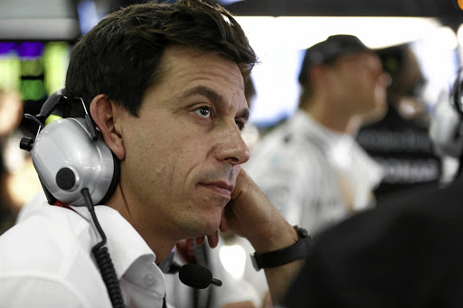 Mercedes-AMG team principal Toto Wolff was not happy. Picture: DAIMLER