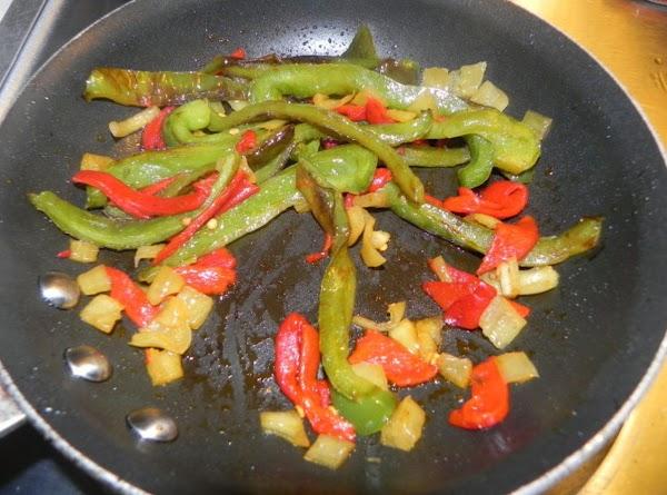 Saute your fresh green bell pepper on a low to medium heat till it...