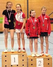 Photo: Alsace 2014 Double Dames Benjamins Médaille d'Or: Camille Knittel/Margot Tailfer