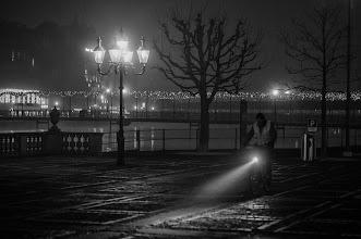 Photo: night rider...  #street #streetphotography #shootthestreet #blackandwhite #blackandwhitephotography #bw #monochrome