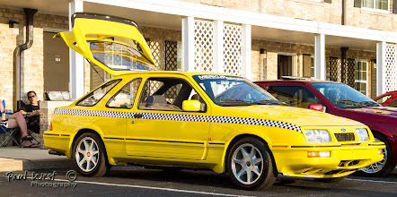 Photo: Brian Hart's Taxi waiting for business