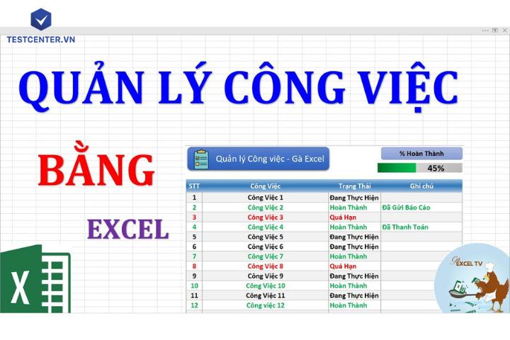 Cách quản lý công việc bằng Excel