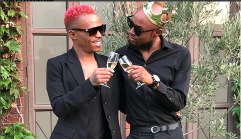 Somizi and Mohale celebrated their engagement with their family.
