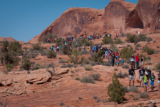 Photo: The group leaves the lunch rock spot, and begins the rest of the hike to Corona Arch.