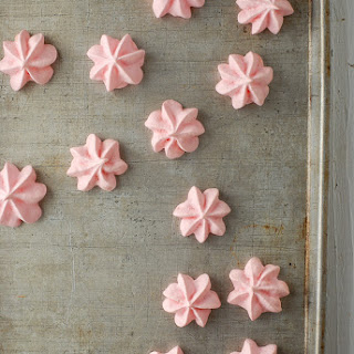Forget Me Nots {rose-flavored meringue cookies}