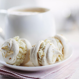 Ginger, Ricotta and Almond Meringues.