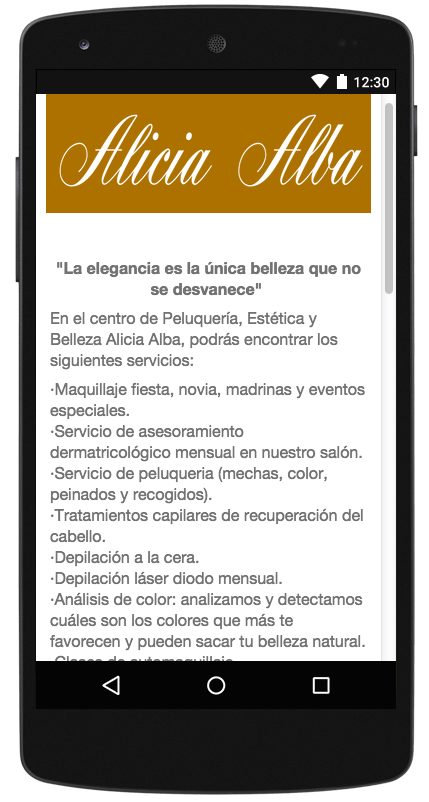Salón Alicia Alba- screenshot