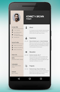 Free CV maker Resume Builder editor PDF template - Apps on Google Play